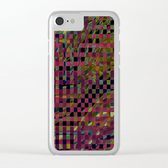 Abstract 147 Clear iPhone Case
