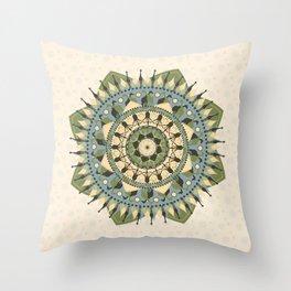 Mandala of Giraffes Throw Pillow