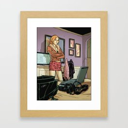 Spy Woman Framed Art Print