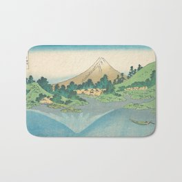 Katsushika Hokusai - Mt Fuji Reflection Bath Mat
