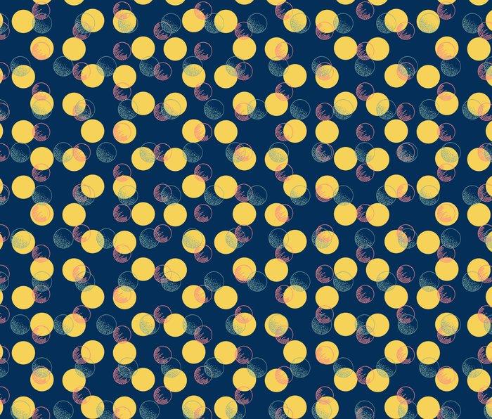 Yellow Polka Dots And Scribbles Metal Travel Mug