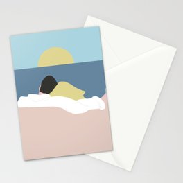 Feelings into sunset Stationery Cards