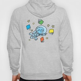 little astronaut and books Hoody