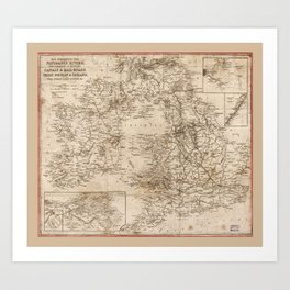 British Isles Map (1810) Art Print