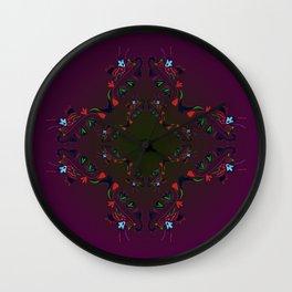 Luxury mandala art Purple Wall Clock