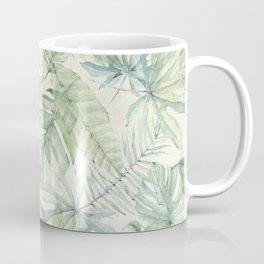 Green Tropical Leaves Coffee Mug