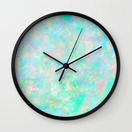 Light Blue Opal Wall Clock