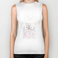 perfume Biker Tanks featuring Miss Perfume by Daria Krol