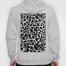 Animal Print Cheetah Black and White Pattern #4 Hoody