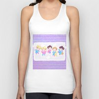 shinee Tank Tops featuring SHINee Sleepover by sophillustration