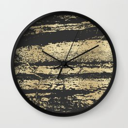 Marble Black Gold - Save Me Wall Clock