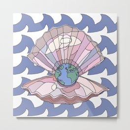 The World is Your Oyster Metal Print