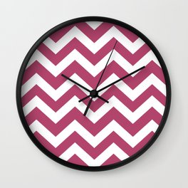 Irresistible - purple color -  Zigzag Chevron Pattern Wall Clock