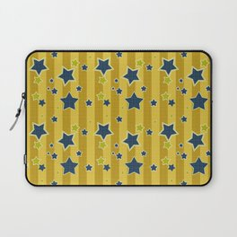 Blue stars on a yellow background Laptop Sleeve
