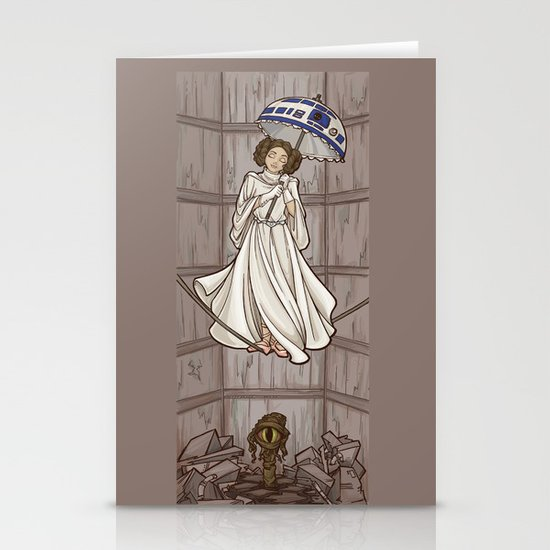 Leia's Corruptible Mortal State Stationery Cards