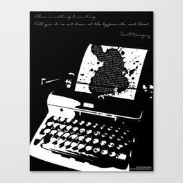 Ernest Hemingway Quote Canvas Print