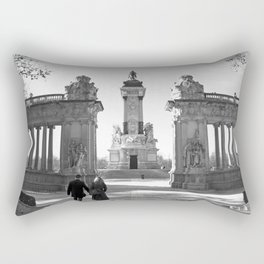 Couple at Madrid monument Rectangular Pillow