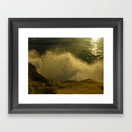 Waves against the Cliffs  Framed Art Print