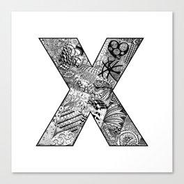 Cutout Letter X Canvas Print