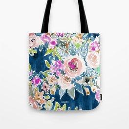 NAVY SO LUSCIOUS Colorful Watercolor Floral Umhängetasche