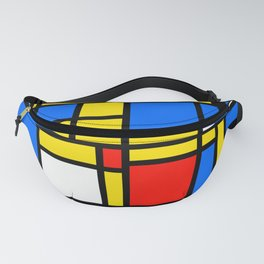 Mondrian Style Fanny Pack