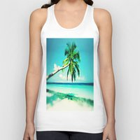 palms Tank Tops featuring Palms by Sankakkei SS