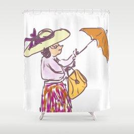 Grandma in the Rain Shower Curtain