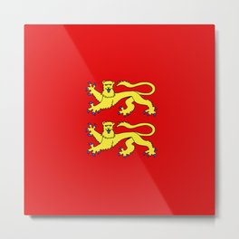 flag of normandie Metal Print