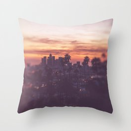 California, Los Angeles, beach, seaside, ocean, surf, downtown, Cali, SoCal Throw Pillow