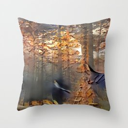 Spooky Woods Throw Pillow