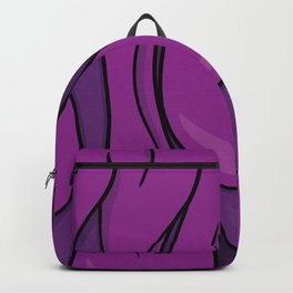 Psychedelic Typography Design Melting Purple Backpack