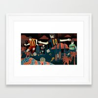 messi Framed Art Prints featuring Messi by Noah MacMillan