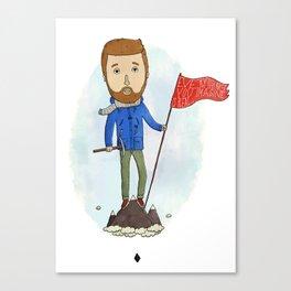 Motivation Mountain Canvas Print