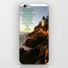 Maine lighthouse iPhone Skin