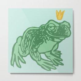 the Frog Prince Metal Print