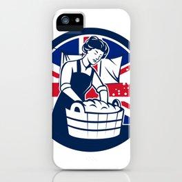 British Laundry Union Jack Flag Icon iPhone Case