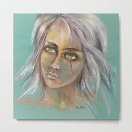 Fan art Witcher III - Cirilla Fiona Elen Riannon Metal Print