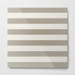 Gray Grey Alabaster Stripes Bold Metal Print