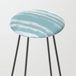 Shibori Stripe Seafoam Counter Stool