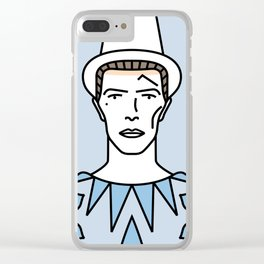 David Bowie – Pierrot in Turquoise Clear iPhone Case