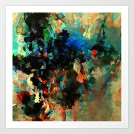 Colorful Landscape Abstract Painting Art Print