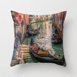 Gondolas at Sunset Throw Pillow