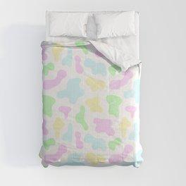 Pastel Rainbow Cow Print Comforters