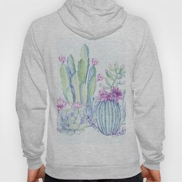 Mixed Cacti Light Blue #society6 #buyart Hoody