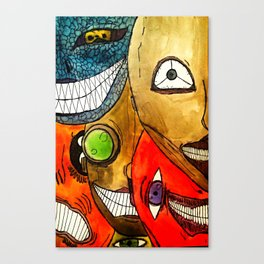 It's scary in here Canvas Print
