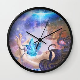 Awakening Crystal Wall Clock