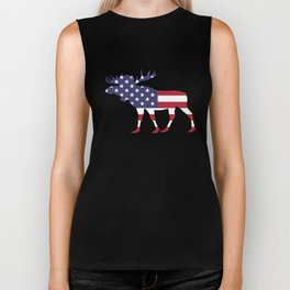 "Moose ""American Flag"" Biker Tank"