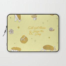 Yellow armadillo pattern Laptop Sleeve