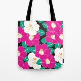 Shades of Tsubaki - Pink & Black Tote Bag