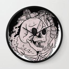 Sea Man Summer Tattoo Wall Clock